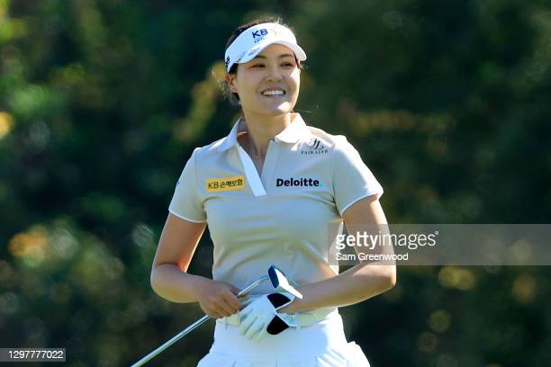 In Gee Chun of South Korea smiles on the seventh hole during the first round of the Diamond Resorts Tournament Of Champions at Tranquilo Golf Course...