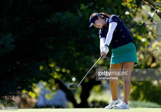 In Gee Chun of South Korea tees off on the 5th hole during the first round of the LPGA Cambia Portland Classic at Columbia Edgewater Country Club on...