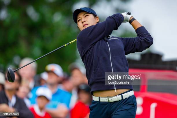 In Gee Chun tees off on the first hole during the first round of the Canadian Pacific Women's Open on August 24, 2017 at The Ottawa Hunt and Golf...