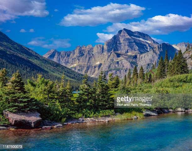 mt. grinnell in glacier national park usa - rocky mountains north america stock pictures, royalty-free photos & images