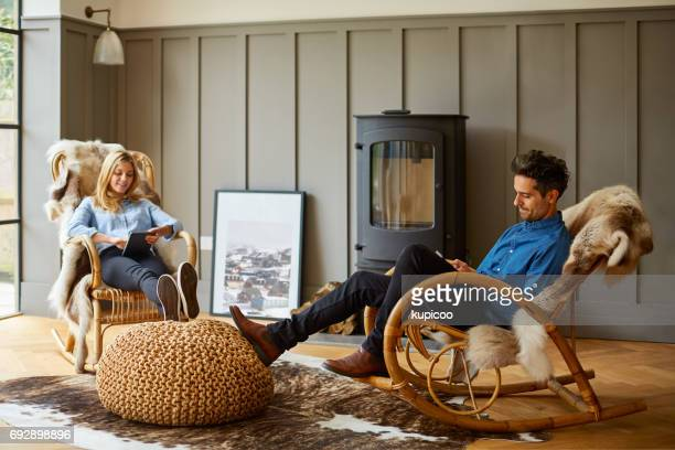in good company - rocking chair stock photos and pictures