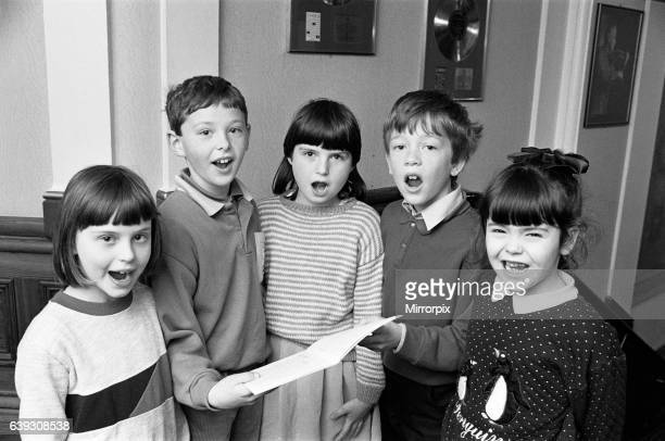 In good voice Mirfield Knowl First School youngsters from left Laura Coates Scott Croisdale Helen Shires Stephen Ashworth and Laura Tennant during...