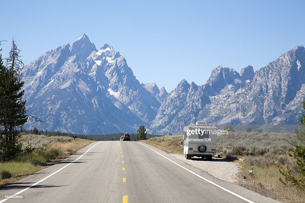 RV In Grand Teton National Park : Stock Photo