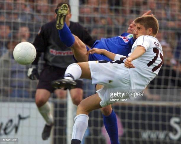 2 BUNDESLIGA 99/00 in Hamburg FC ST PAULI ROTWEISS OBERHAUSEN 11 TORCHANCE Ivan KLASNIC/PAULI