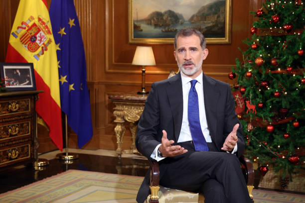 ESP: King Felipe Of Spain Delivers His Traditional Christmas Speech To The Nation