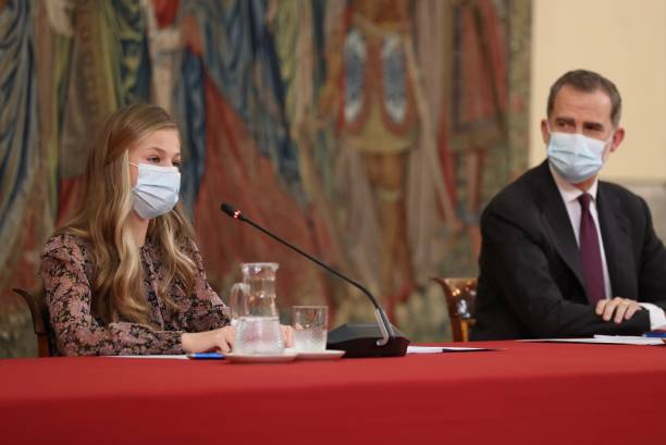 ESP: Princess Leonor Attends Princess of Girona Foundation Meeting