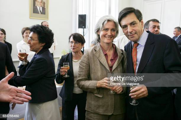 In his constituency in the Sarthe departement French newly appointed PM Francois Fillon launches the UMP campaign for the upcoming French...