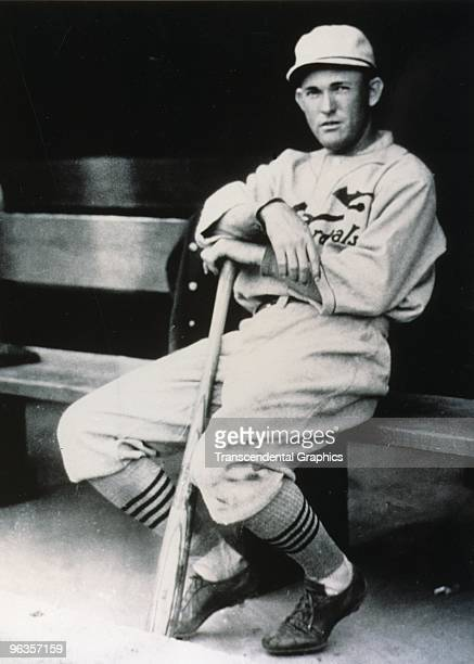 In his first full season in StLouis Rogers Hornsby poses serenely in the dugout before a game in 1916