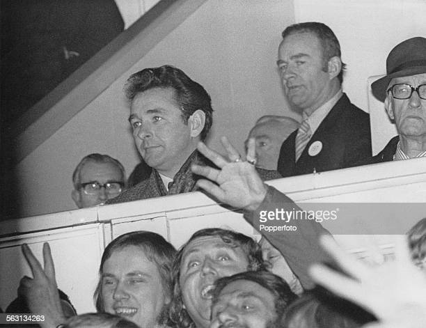 In his first game in charge newlyappointed Nottingham Forest manager Brian Clough watches his team play Tottenham Hotspur in an FA Cup Third Round...