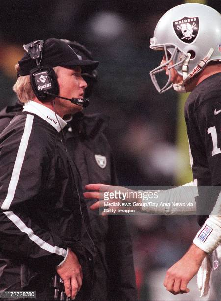 In his fisrt season as a head coach Joh Gruden could lead the Raiders to their first winning record since 1994 [981224 SP 1D] PHOTO BY MERI SIMON...