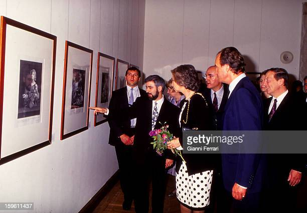 In his official visit to Bulgaria the Spanish King Juan Carlos and Sofia inaugurate the exhibition of Spanish prints in the Foundation 'St Cyril and...