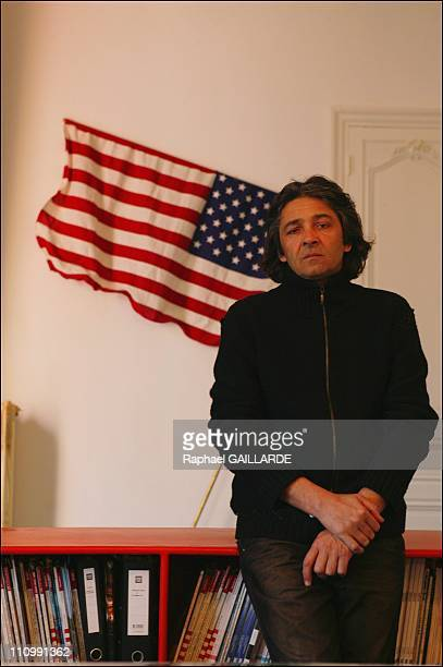 In his studio in front a work by Gianni Motti in Bandol France on March 01 2004