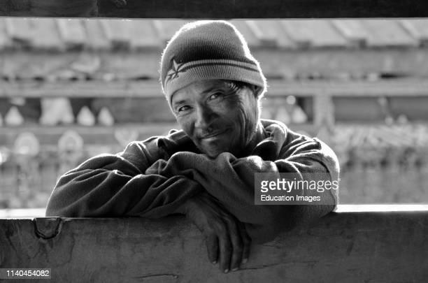 MAN in HUMDE on the AROUND ANNAPURNA TREK ANNAPURNA CONSERVATION AREA NEPAL