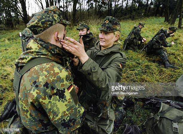 In January 2001 we're there Women will be admitted as normal soldiers in all branches of the Federal Armed Forces Our picture shows male and female...