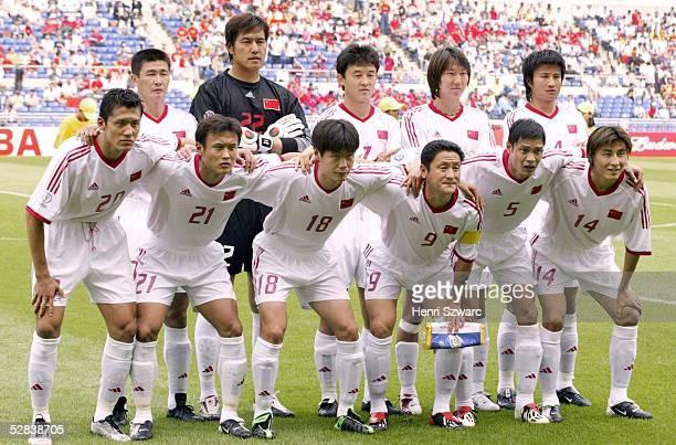WM 2002 in JAPAN und KOREA Gwangju GRUPPE C/CHINA COSTA RICA 02 TEAM CHINA/hintere Reihe vlinre Haidong HAO TORWART Jin JIANG Jiayi SHAO Tie LI...