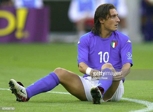 FUSSBALL WM 2002 in JAPAN und KOREA Ibaraki 080602 GRUPPE G/ITALIEN KROATIEN 12 Francesco TOTTI/ITA