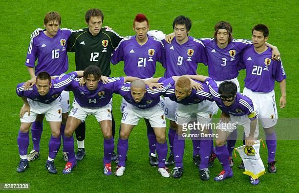 WM 2002 in JAPAN und KOREA Miyagi Match 55/ACHTELFINALE/JAPAN TUERKEI 01 hintere Reihe vli Koji NAKATA TORWART Yoshikatsu KAWAGUCHI Kazuyuki TODA...
