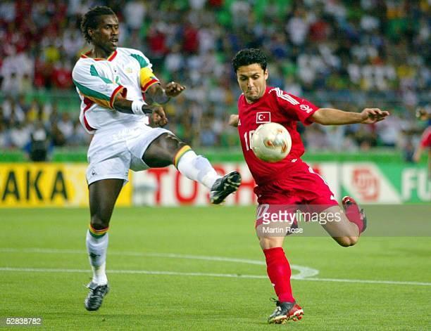 WM 2002 in JAPAN und KOREA Osaka Match 60/VIERTELFINALE/SENEGAL TUERKEI 01 nV Golden Goal Aliou CISSE/SEN Yildiray BASTUERK/TUR