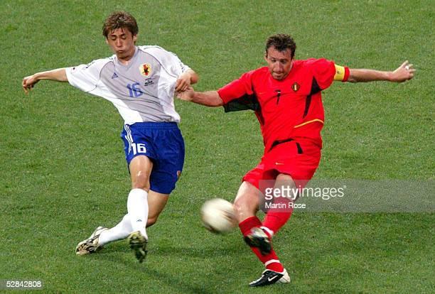 WM 2002 in JAPAN und KOREA Saitama GRUPPE H/JAPAN BELGIEN 22 Koji NAKATA/JPN Marc WILMOTS/JPN