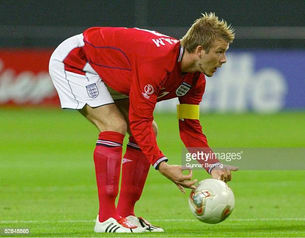 FUSSBALL WM 2002 in JAPAN und KOREA Sapporo 070602/Match 23 GRUPPE F/ARGENTINIEN ENGLAND 01 David BECKHAM/ENG