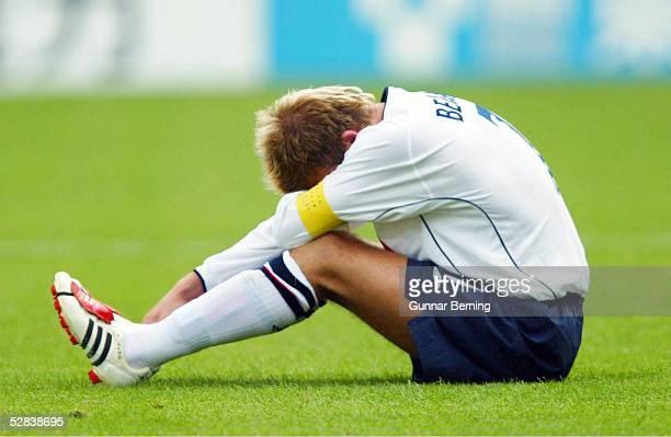 WM 2002 in JAPAN und KOREA Shizuoka Match 57/VIERTELFINALE/ENGLAND BRASILIEN 12 ENTTAEUSCHUNG David BECKHAM/ENG