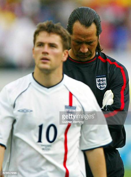 WM 2002 in JAPAN und KOREA Shizuoka Match 57/VIERTELFINALE/ENGLAND BRASILIEN 12 Michael OWEN TORWART David SEAMAN/ENG