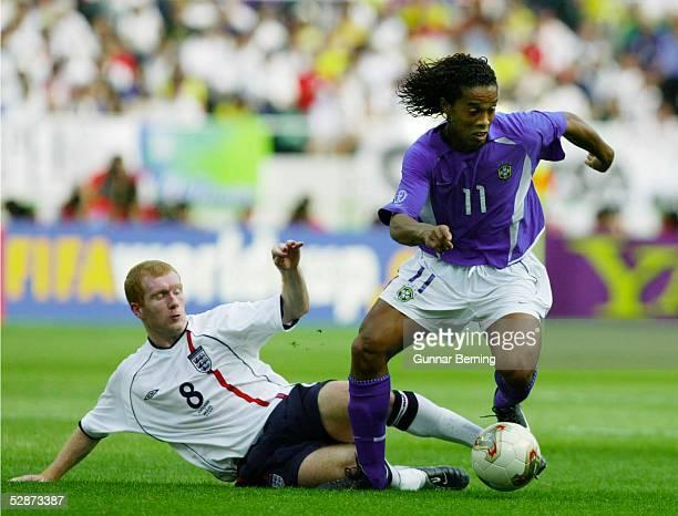 WM 2002 in JAPAN und KOREA Shizuoka Match 57/VIERTELFINALE/ENGLAND BRASILIEN 12 Paul SCHOLES/ENG RONALDINHO/BRA