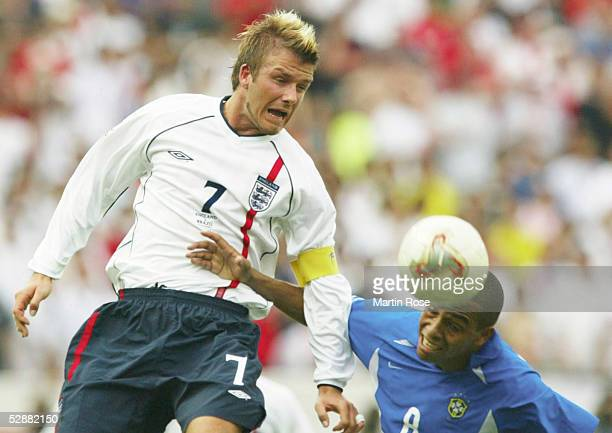 WM 2002 in JAPAN und KOREA Shizuoka Match 57/VIERTELFINALE/ENGLAND BRASILIEN 12 David BECKHAM/ENG GILBERTO SILVA/BRA