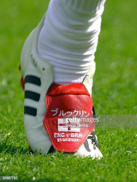 WM 2002 in JAPAN und KOREA Shizuoka Match 57/VIERTELFINALE/ENGLAND BRASILIEN 12 Fussballschuhe/Fussballschuh von David BECKHAM