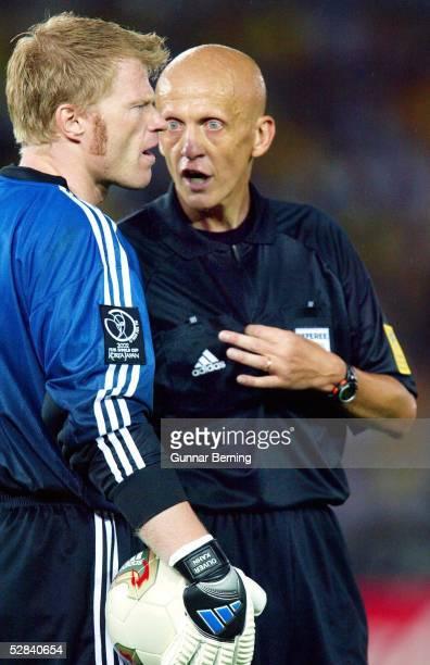 WM 2002 in JAPAN und KOREA Yokohama Match 64/FINALE/DEUTSCHLAND BRASILIEN 02 BRASILIEN WELTMEISTER 2002 TORWART Oliver KAHN/GER SCHIEDSRICHTER...