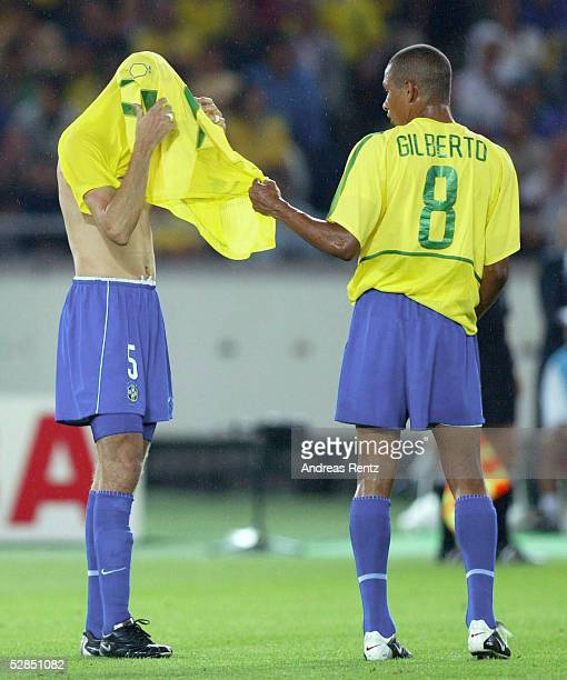 WM 2002 in JAPAN und KOREA Yokohama Match 64/FINALE/DEUTSCHLAND BRASILIEN 02 BRASILIEN WELTMEISTER 2002 EDMILSON GILBERTO SILVA/BRA