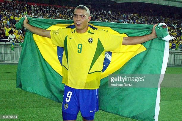 WM 2002 in JAPAN und KOREA Yokohama Match 64/FINALE/DEUTSCHLAND BRASILIEN 02 BRASILIEN WELTMEISTER 2002 RONALDO/BRA