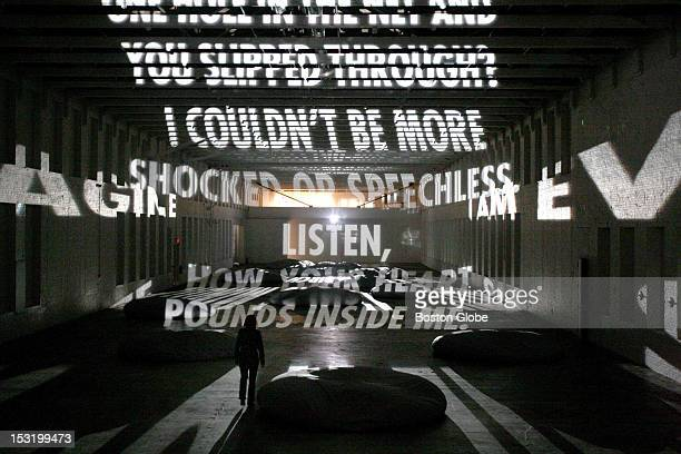 In Jenny Holzer's Projections poetry flowed through MASS MoCA's massive Building 5