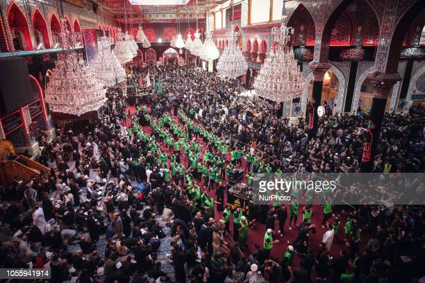 In Karbala Iraq on October 30 millions of Shi'a Muslims gather in the holy city of Karbala specifically at the holy threshold of Husseiniya each year...