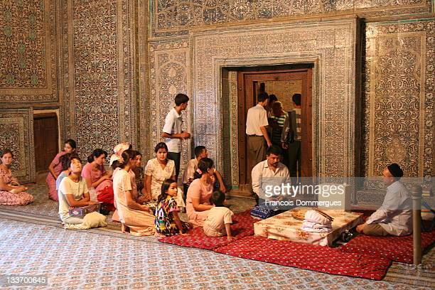In Khiva Uzbekistan weddings are held in the old town On wedding days one wedding follows another the bride and the groom and their relatives are...
