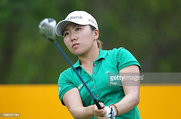 In Kyung Kim of South Korea plays a shot during day one of the LPGA Thailand at Siam Country Club on February 17 2011 in Chon Buri Thailand