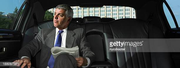 CEO in Limousine