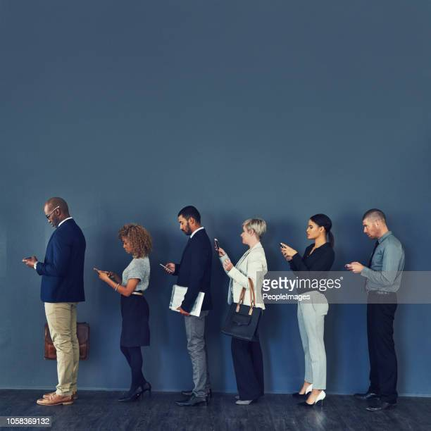 in line for opportunity - lining up stock pictures, royalty-free photos & images