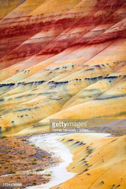 in living color ii - painted hills stock pictures, royalty-free photos & images