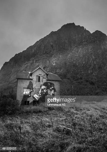 In Lofoten we find many abandoned houses with this kind of street art on them. The owners were asked permission and several of artists from Norway...
