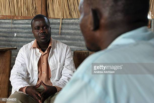 In Longech village Northern Kenya the UK based charity Merlin run a mobile Voluntary Counselling Testing unit for HIV and AIDS VCT counsellor John...