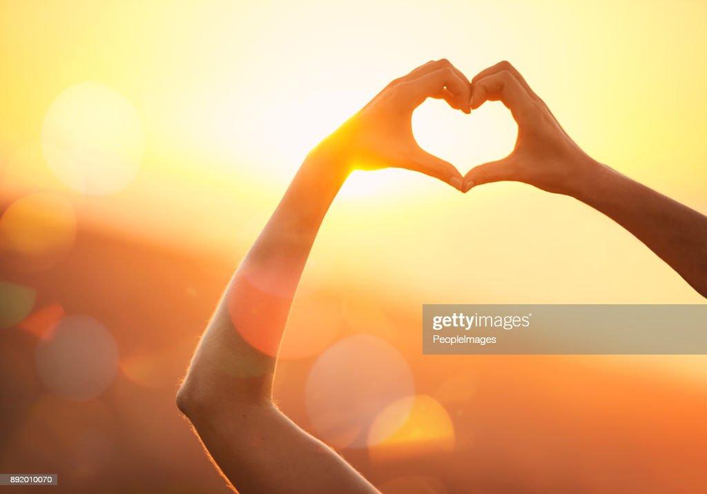 No amor com a paisagem : Foto de stock