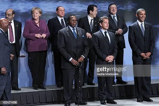 Senegal President Abdoulaye Wade Malawi's President Bingu wa Mutharika French President Nicolas Sarkozy USPresident Barack Obama LR in upper row...