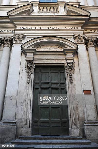In macabre Rome, it's Halloween all year round by Gina DOGGETT A detail of the facade of 'Santa Maria dell'Orazione e delle Morte' church in Rome on...