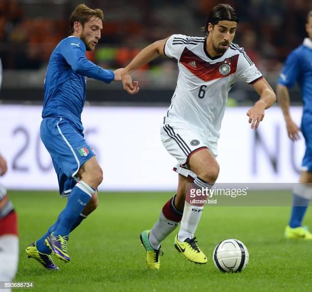 FUSSBALL INTERNATIONALES TESTSPIEL in Mailand Italien Deutschland Sami Khedira gegen Claudio Marchisio
