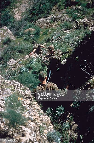 In March and April 1959 the marine commando JAUBERT explores the terrain in the sector of Frenda in the Oranese center In the KW50 operational square...