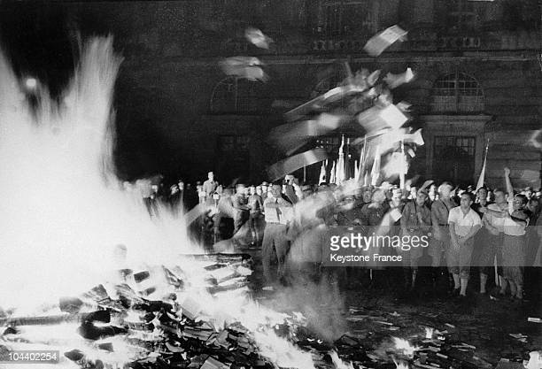 In May 1933 German students organized a book burning of degenerate books on the Opernplatz in Berlin In the name of intellectual uniformity the Nazi...