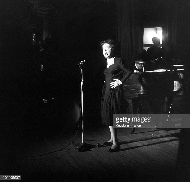 In Melun France the popular singer Edith PIAF is singing for a variety programme in a musichall For this concert Edith PIAF cut short the time of...