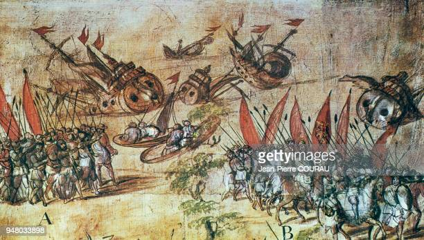 In Mexico City Hernan CORTES sank his fleet to prevent his army from returning during the conquest of Mexico Hernan CORTES' army landed in Vera Cruz...