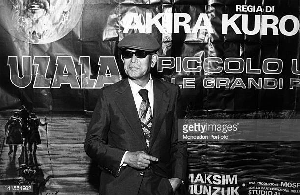 In Milan the Japanese director Akira Kurosawa presenting his film 'Dersu Uzala' Milan 1976